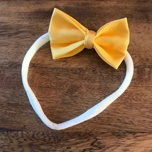 Other - Yellow Bow Baby Headband